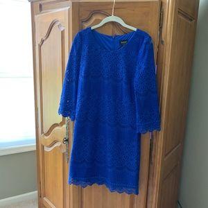 Shelli Segal Cobalt Blue Lace Dress Size 8